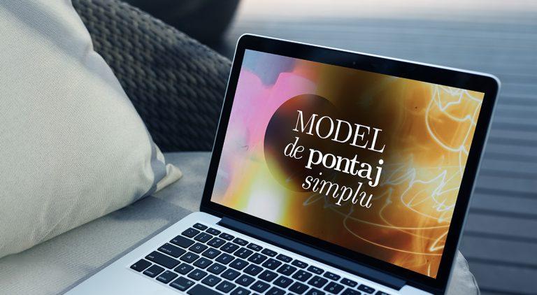 Model pontaj simplu Noiembrie 2020