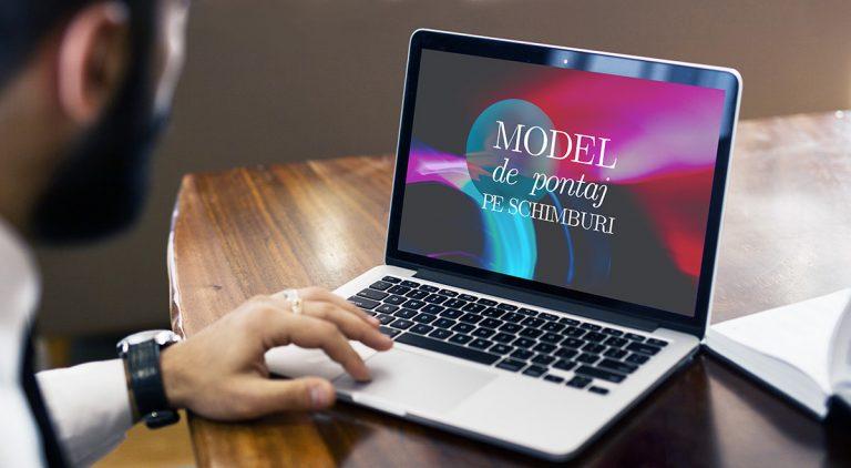 Model pontaj pe schimburi Noiembrie 2020