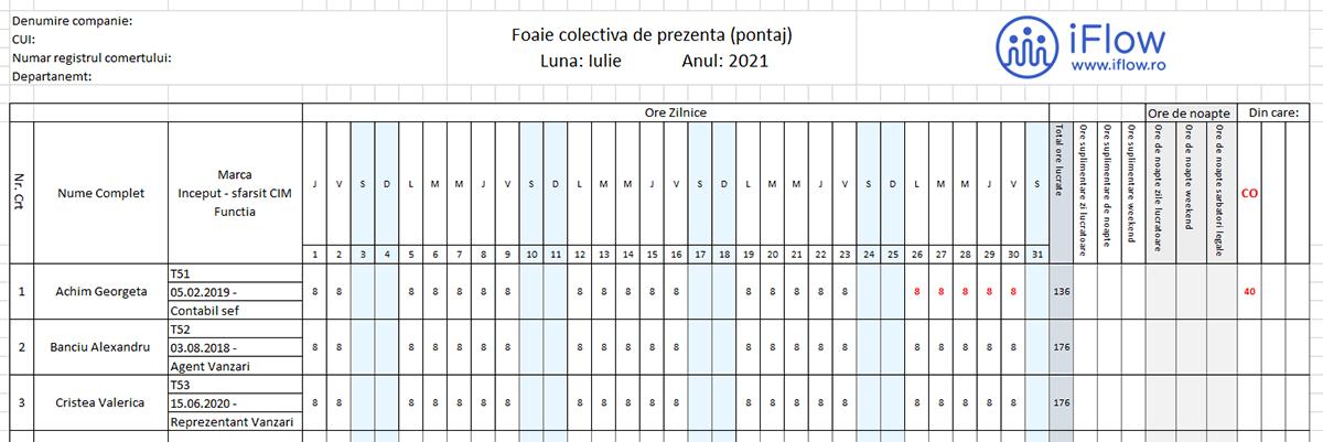 Model Ponatj cu numar de marca Iulie 2021